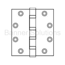 Full Mortise Commercial Hinge - ETW-4