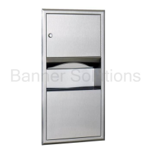 B-369 Recessed Paper Towel Dispenser/Waste Receptacle