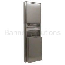 Surface-Mounted Convertible Paper Towel Dispenser/Waste Receptacle