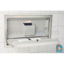 Horizontal, Recessed Mounted Baby Changing Station