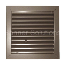 "Model 1900-A Fire Rated Louver - 12"" x 12"""
