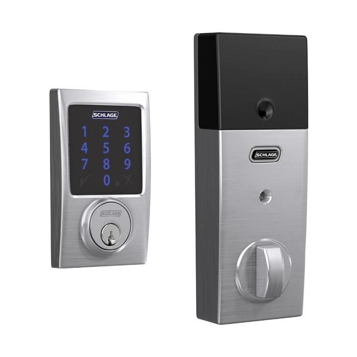 BE469ZP Century Schlage Connect Deadbolt with Alarm