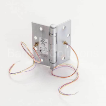 5 Knuckle Ball Bearing Electric Full Mortise Hinge - 4 Wire