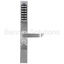 DL1200 Series Trilogy Narrow Stile Digital Aluminum Door Retrofit Outside Lever Trim