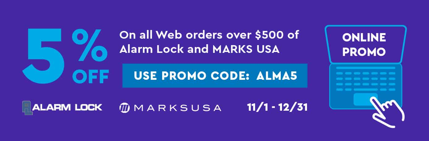 Alarm Lock and Marks USA Promo Code Banner Image
